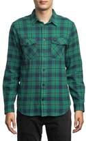 RVCA Men's 'That'Ll Work' Trim Fit Plaid Flannel Shirt