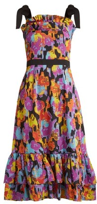 Mary Katrantzou Kara Floral Fil-coupe Dress - Womens - Multi