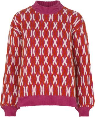 Stine Goya Anders Cross Knit Sweater