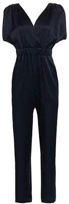 Carolina Ritzler V-Back Split-Sleeve Jumpsuit
