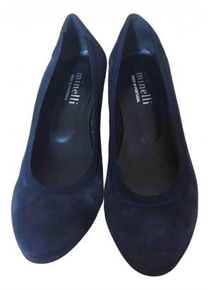 Minelli Blue Suede Heels