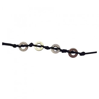 Bvlgari Save The Children Black Silver Bracelets