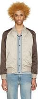 Marc Jacobs Beige & Brown Bomber Jacket