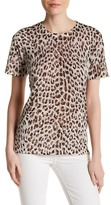 Equipment Preston Cheetah Print Silk Tee