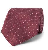 Hackett 8cm Pin-Dot Silk And Linen-Blend Tie