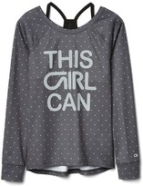 Gap GapFit kids double-layer long sleeve tee