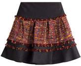 Diane von Furstenberg Mixed-Media Mini-Skirt