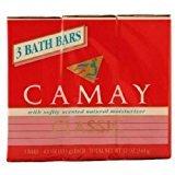 (6 Pack)-Camay Classic Moisturizing Soap Bars, 3 bars 4.0 oz each, Total of 18 Bath Bars