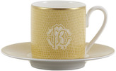 Roberto Cavalli Lizzard Coffee Cups & Saucers - Set of 6 - Gold