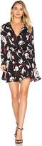 Karina Grimaldi Pilar Print Mini Dress in Black. - size XS (also in )