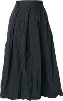 Daniela Gregis creased high-waisted skirt