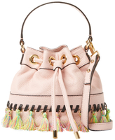 Milly Whipstitch Tassel Leather Bucket Bag