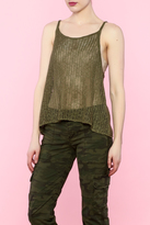 En Creme Green Knitted Top