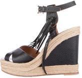 Valentino Fringed Wedge Sandals
