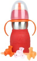 Kid Basix The Safe Sippy 2 Sippy + Straw Bottle - Red - 11 oz