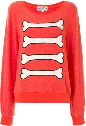 Wildfox Couture Bones Print Sweatshirt