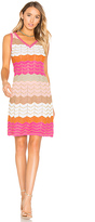 M Missoni Sleeveless V Neck Mini Dress in White. - size IT 38/ US 2 (also in )