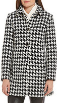 Kate Spade A-Line Houndstooth Wool Coat
