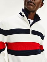 Tommy Hilfiger Bold Half Zip Relaxed Fit Jumper