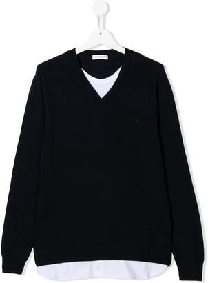 Paolo Pecora Kids layered V-neck sweater
