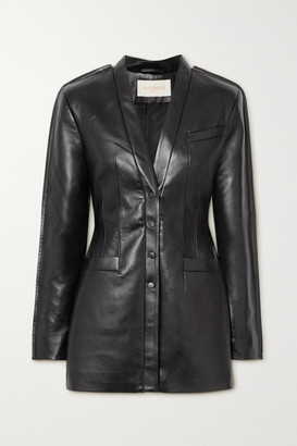 MATÉRIEL Paneled Faux Leather Mini Dress - Black