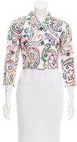 Jil Sander Cropped Paisley Print Jacket
