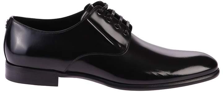 Dolce & Gabbana Black Derby Shoes