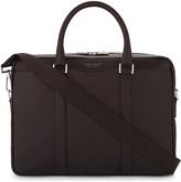 HUGO BOSS Signature textured leather briefcase