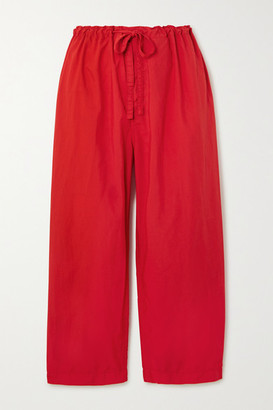 Comme des Garcons Cropped Shell Straight-leg Pants - Red