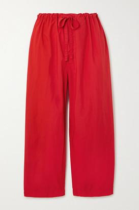 COMME DES GARÇONS GIRL Cropped Shell Straight-leg Pants - Red