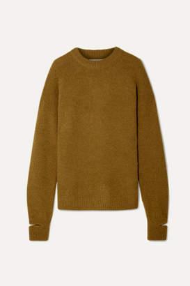 Tibi Airy Oversized Alpaca-blend Sweater - Sage green