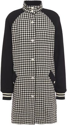 Rag & Bone Paneled Houndstooth Cotton-jacquard Coat