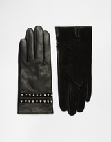 French Connection Studded Leather Gloves