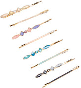 Natasha Accessories Rhinestone Accented Bobby Pin Set - Set of 8