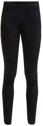 Joseph High-rise Suede Leggings - Womens - Navy