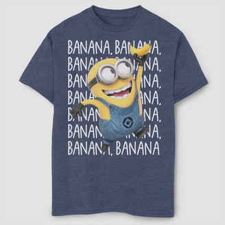 Fifth Sun Boys' Despicable Me Minions Gone Bananas T-Shirt - Navy