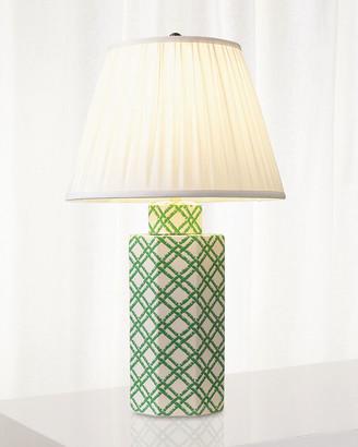 Port 68 Bamboo Trellis Hex Table Lamp