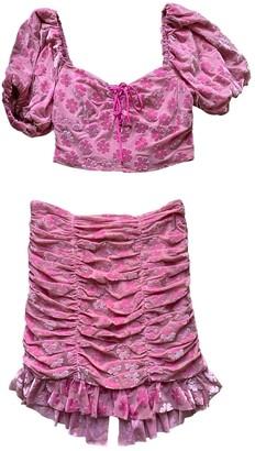 For Love & Lemons Pink Velvet Dresses