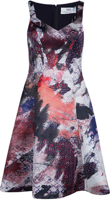 Prabal Gurung Multicolor Print Sweetheart Dress S