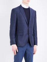 HUGO BOSS Elbow-pad slim-fit pure-wool jacket