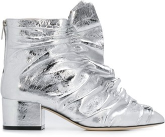 Sergio Rossi Ruffle Front Ankle Boots