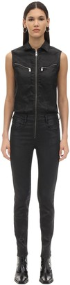 Diesel D-glynne Coated Denim Jumpsuit