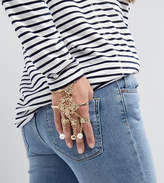 Monki Encrusted Multi Ring And Chain Bracelet