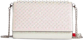 Christian Louboutin Paloma Glitter Spike Leather Clutch
