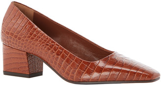 Marion Parke Pierson Mock-Croc Office Pumps