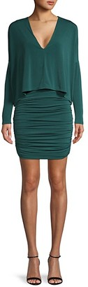 BCBGMAXAZRIA Long-Sleeve Mini Dress