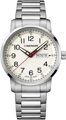 Wenger Men's Sport Swiss-Quartz Watch with Stainless-Steel Strap Silver 22 (Model: 01.1541.108)