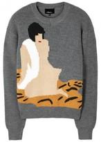 3.1 Phillip Lim Grey Intarsia Wool Jumper