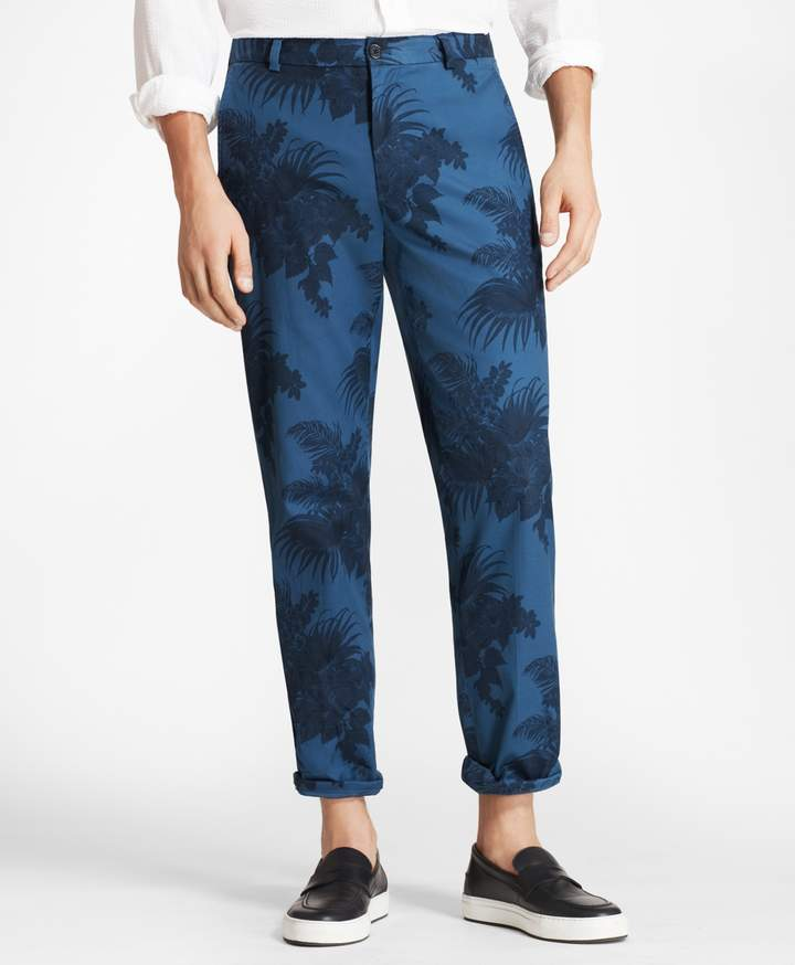 Brooks Brothers Clark Fit Tropical Print Pants