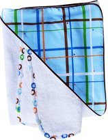 Caden Lane Boutique Collection Plaid Hooded Towel Set, Blue, Infant
